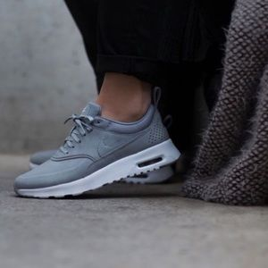 Nike grey leather Thea air max
